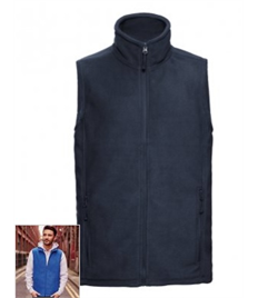 872M Navy Outdoor Fleece Gilet XS - XXL